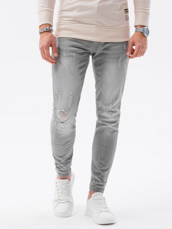 Ombre Clothing Muške jeans hlače Raoul siva