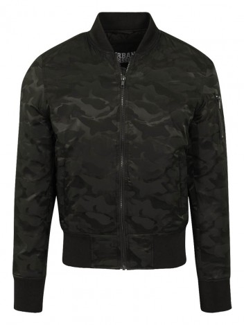 Mens Camo Bomber Jacket Mash Green S