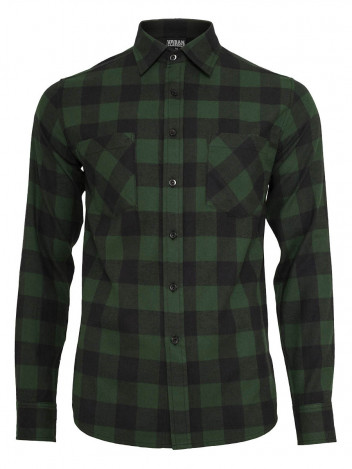 Mens Flanell Shirt Forest Green S