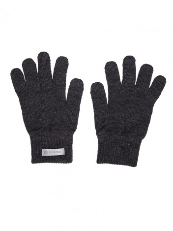 Mens Gloves Warm Dark Grey